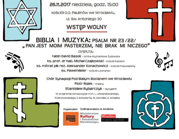 """Koncert i Dysputa """"Biblia i Muzyka"""" – Wstęp Wolny! (26.11.2017)"""