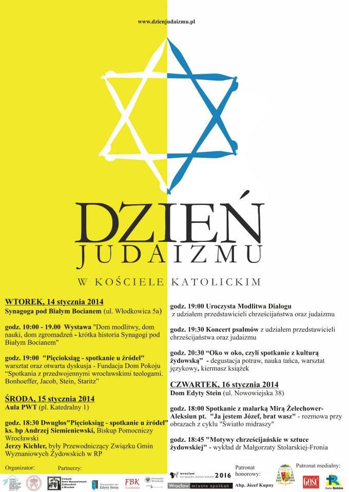 Plakat na Dzień Judaizmu